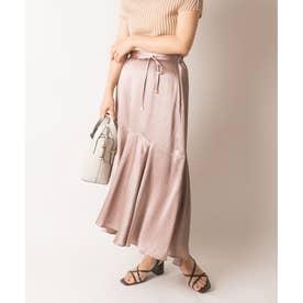 【選べる丈感】裾切り替えサテンスカート (GREGE)