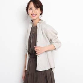 【WEB限定カラーあり】リネンクロスシャツ (ライトベージュ)