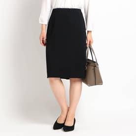 【洗える/匠シリーズ】ソフトタイトスカート (ブラック)