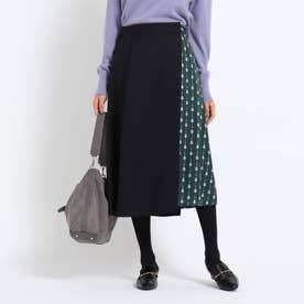 【WEB限定カラーあり】2WAYオーバースカート (ダークグリーン)