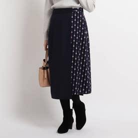 【WEB限定カラーあり】2WAYオーバースカート (ネイビー)