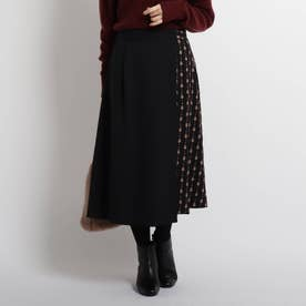 【WEB限定カラーあり】2WAYオーバースカート (ブラック)