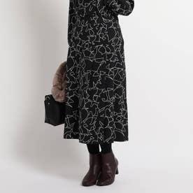 【WEB限定カラーあり】ラインヌーボースカート (ブラック)