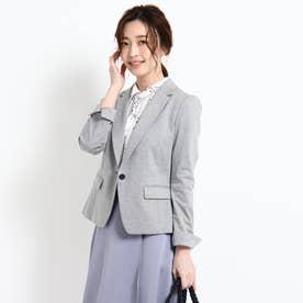 【UVカット/洗える】'21春夏 匠ジャケット/ベーシックテーラード (グレー)
