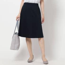 【UVカット/洗える/夏匠シリーズ】フレアスカート (ネイビー)