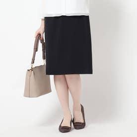 【洗える/匠シリーズ】ソフトタイトスカート (ネイビー)