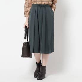 【WEB限定カラーあり/洗える】ドライタッチフリュイドスカート (モスグリーン)