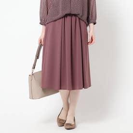 【WEB限定カラーあり/洗える】ドライタッチフリュイドスカート (ボルドー)