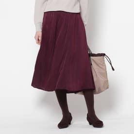 ヴィンテージライクフリュイドスカート (レットプラム)