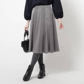 【洗える】スピナージオメプリントスカート (ブラック)