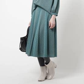 【洗える】スピナージオメプリントスカート (モスグリーン)