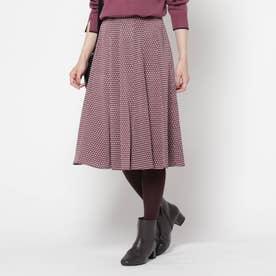 【洗える】スピナージオメプリントスカート (レットプラム)