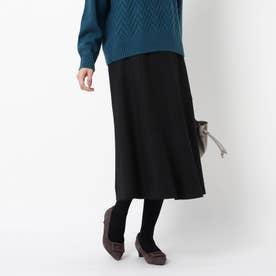 【WEB限定カラーあり/洗える】フリュイドフレアスカート (ブラック)