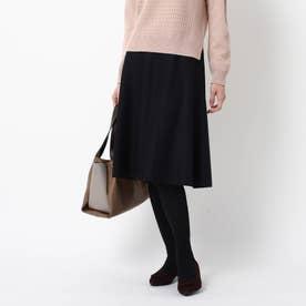 【WEB限定カラーあり】マーメイドラインフレアスカート (ブラック)
