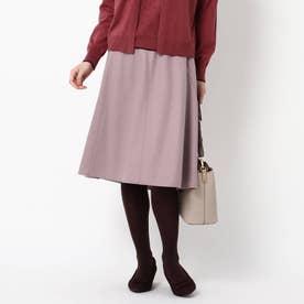 【WEB限定カラーあり】マーメイドラインフレアスカート (ピンク)