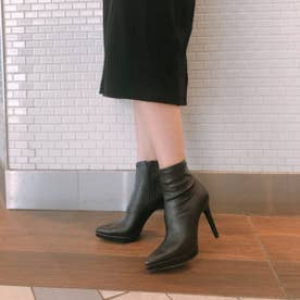 【20AW新作】【R&E】ポインテッドトゥハイヒールショートブーツ (ブラック)