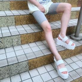 【20SS新作】【R&E】厚底シャークソールWストラップサンダル (ホワイト)