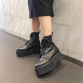 【20AW新作】【R&E】厚底8ホールショートブーツ (ブラック)