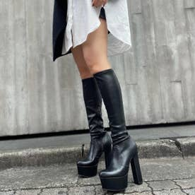 【20AW新作】【R&E】太ヒールストレッチロングブーツ (ブラック)