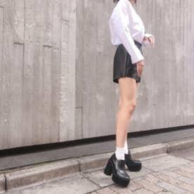 【20AW新作】【R&E】厚底ヴァンプローファー (ブラックコンビ)