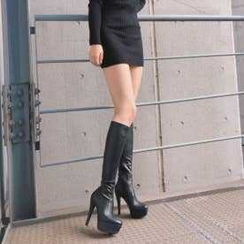 【20AW新作】【R&E】ハイヒールスーパー美脚ロングブーツ (ブラック)
