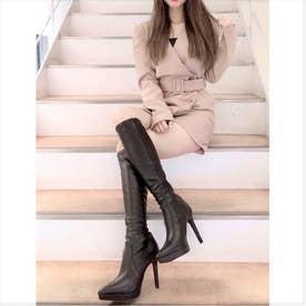 【20AW新作】【R&E】ポインテッドトゥハイヒールロングブーツ (ブラック)