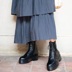 【20AW新作】【R&E】厚底ラバーソール8ホールショートブーツ (ブラック)