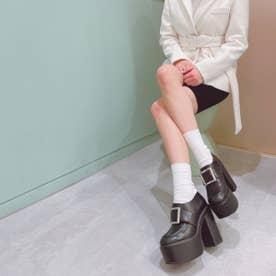 【21SS新作】【R&E】ベルテッド厚底ローファー (ブラック)