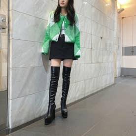 【21AW新作】【R&E】太ヒールストレッチニーハイブーツ (ブラック)
