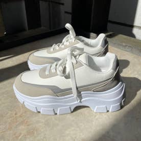 【R&E】厚底スニーカー (ホワイト)