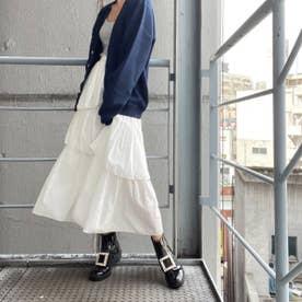 【21AW新作】【R&E】ビジュバックルサイドゴアショートブーツ (ブラックエナメル)