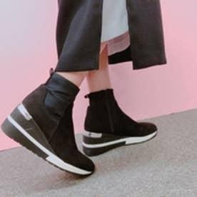 【めざましテレビで紹介されました】【REZOY】スニーカーソールショートブーツ (ブラック)