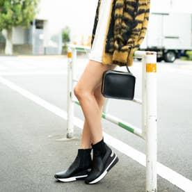 【20AW新色】【REZOY】スニーカーソールショートブーツ (ブラックスムース)