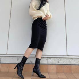 【21AW新作】【REZOY】スティックヒールミドルストレッチブーツ (ブラック)