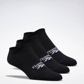 Reebokクラシックス ファウンデーション インビジブル ソックス 3足組 / Classics Foundation Invisible Socks 3 Pairs (ブラック)