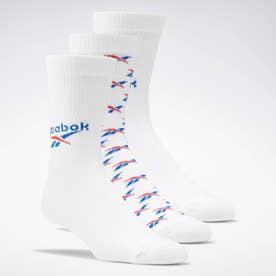 クラシックス フォールドオーバー クルー ソックス 3足組 / Classics Fold-Over Crew Socks 3 Pairs (ホワイト)