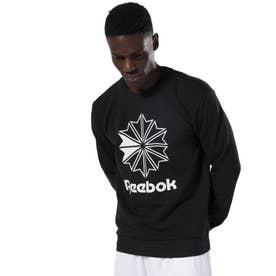 ReebokAC フレンチテリー ビッグ スタークレスト クルー (ブラック)