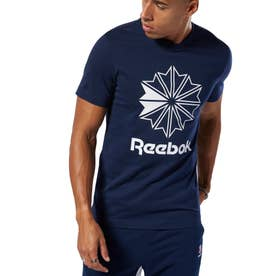 ReebokCL ビッグロゴ Tシャツ (ブルー)