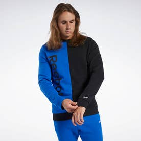 トレーニング エッセンシャルズ リニア ロゴ スウェットシャツ / Training Essentials Linear Logo Sweatshirt (ブルー)
