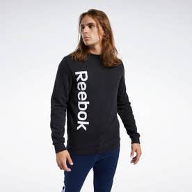 トレーニング エッセンシャルズ リニア ロゴ スウェットシャツ / Training Essentials Linear Logo Sweatshirt (ブラック)