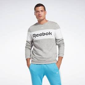 トレーニング エッセンシャルズ リニア ロゴ クルー スウェットシャツ /  Training Essentials Linear Logo Crew Sweatshirt