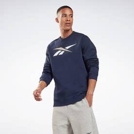 トレーニング エッセンシャルズ ベクター クルー スウェットシャツ / Training Essentials Vector Crew Sweatshirt (ブルー)