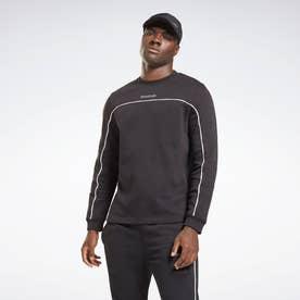 トレーニング エッセンシャルズ パイピング クルー スウェットシャツ / Training Essentials Piping Crew Sweatshirt (ブラック)