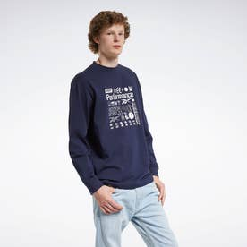 CL X BlackEyePatch ロングスリーブ Tシャツ / CL X BEP LS Tee2 (ブルー)