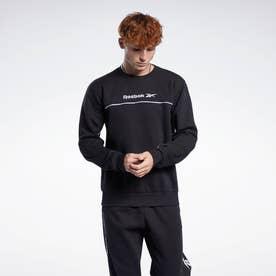 クラシックス リニア クルー スウェットシャツ / Classics Linear Crew Sweatshirt (ブラック)