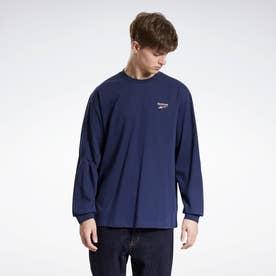 クラシックス ニット   ロング スリーブ Tシャツ / Classics Knit Long Sleeve T-Shirt (ネイビー)