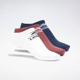 【2021春夏】レズミルズ ローカット ソックス 3足組 / Les Mills Low-Cut Socks 3 Pairs (ホワイト)