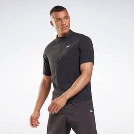 レズミルズR ジップ ポロシャツ / Les MillsR Zip Polo Shirt (ブラック)