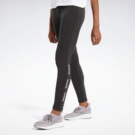 トレーニング エッセンシャルズ リニア ロゴ レギンス / Training Essentials Linear Logo Leggings (ブラック)