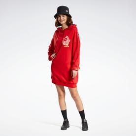 クラシックス CNY フーデッド ドレス / Classics CNY Hooded Dress (レッド)